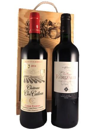 """Coffret bois avec poignée """"Bordeaux"""""""